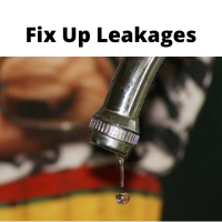 Leak-save water by faucets